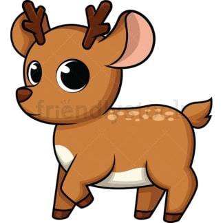 Adorable baby deer. PNG - JPG and vector EPS (infinitely scalable). Image isolated on transparent background.