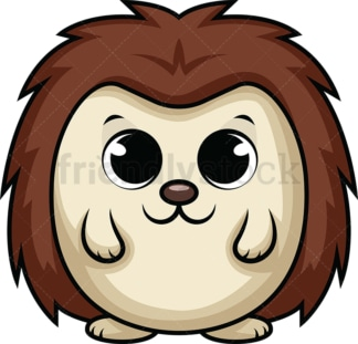 Adorable baby hedgehog. PNG - JPG and vector EPS (infinitely scalable). Image isolated on transparent background.