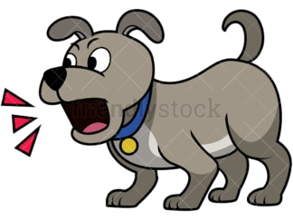 Cute puppy barking. PNG - JPG and vector EPS file formats (infinitely scalable). Image isolated on transparent background.