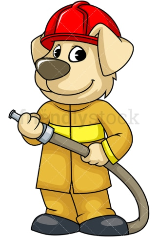 Dog firefighter. PNG - JPG and vector EPS (infinitely scalable). Image isolated on transparent background.