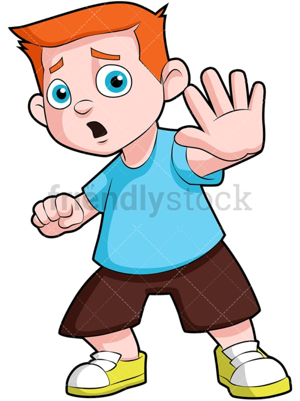 Frightened kid. PNG - JPG and vector EPS (infinitely scalable). Image isolated on transparent background.