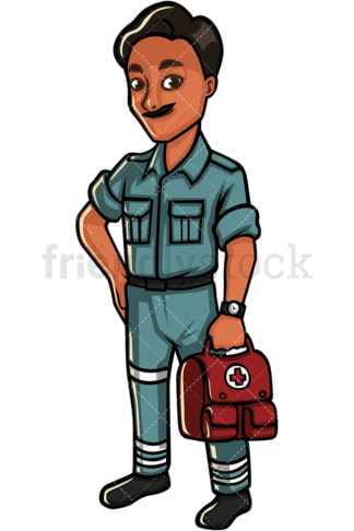 Indian medic. PNG - JPG and vector EPS file formats (infinitely scalable). Image isolated on transparent background.