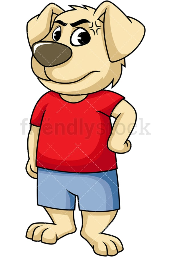 Angry dog cartoon character. PNG - JPG and vector EPS (infinitely scalable). Image isolated on transparent background.