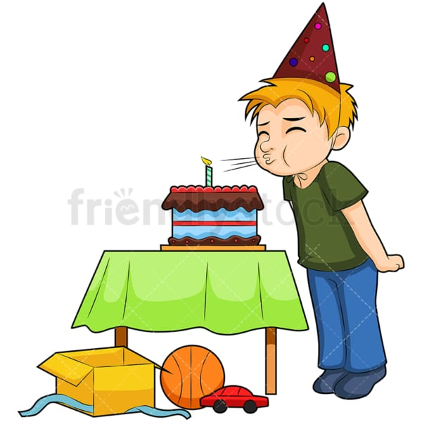 Birthday boy. PNG - JPG and vector EPS (infinitely scalable). Image isolated on transparent background.