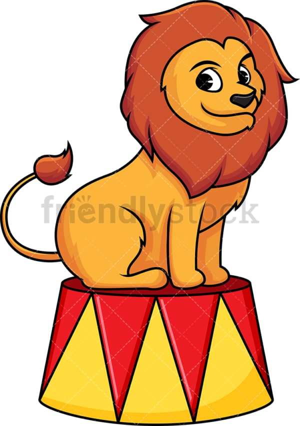 Circus lion. PNG - JPG and vector EPS (infinitely scalable). Image isolated on transparent background.
