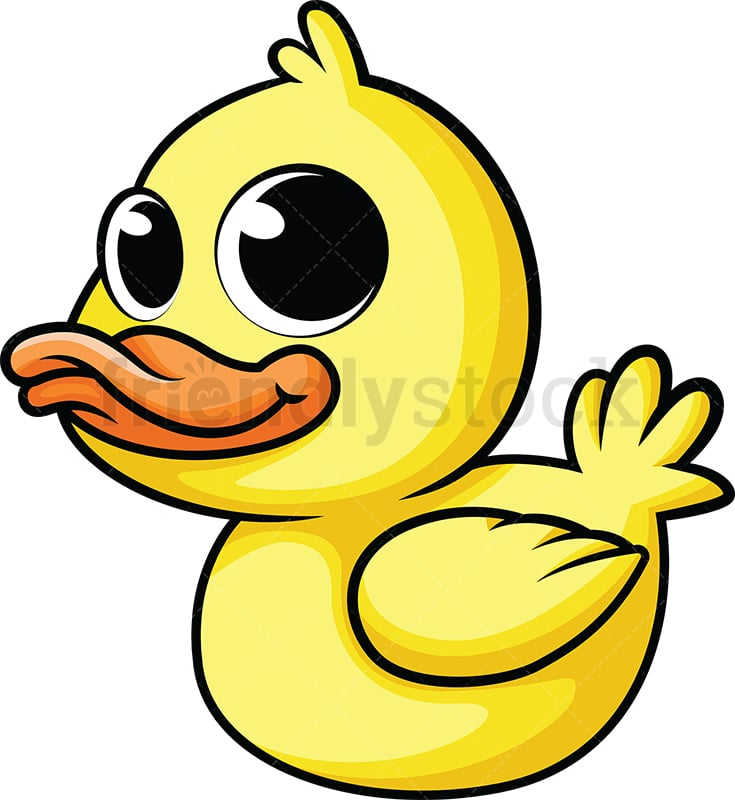 Cute Baby Duck Cartoon Vector Clipart - FriendlyStock