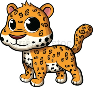 Adorable baby jaguar. PNG - JPG and vector EPS (infinitely scalable). Image isolated on transparent background.