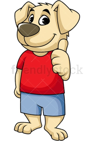 Dog mascot thumbs up. PNG - JPG and vector EPS (infinitely scalable). Image isolated on transparent background.