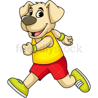 Dog cartoon character running. PNG - JPG and vector EPS (infinitely scalable). Image isolated on transparent background.