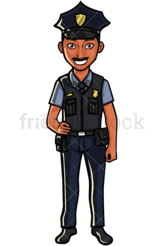 Indian policeman. PNG - JPG and vector EPS file formats (infinitely scalable). Image isolated on transparent background.