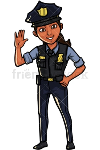 Indian policewoman. PNG - JPG and vector EPS file formats (infinitely scalable). Image isolated on transparent background.