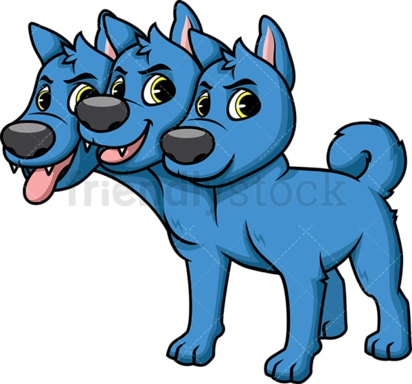 Underworld guardian cerberus. PNG - JPG and vector EPS (infinitely scalable). Image isolated on transparent background.
