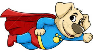 Character cartoon character dog superhero. PNG - JPG and vector EPS (infinitely scalable). Image isolated on transparent background.
