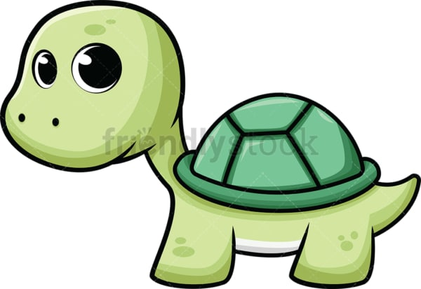Adorable little sea turtle. PNG - JPG and vector EPS (infinitely scalable). Image isolated on transparent background.