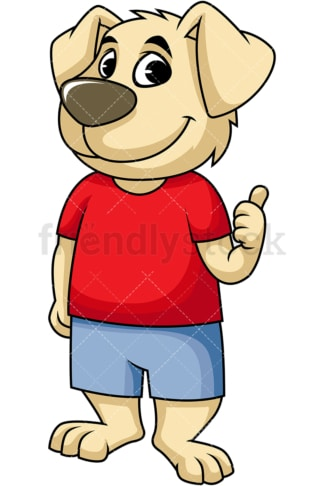 Dog mascot pointing back. PNG - JPG and vector EPS file formats (infinitely scalable). Image isolated on transparent background.