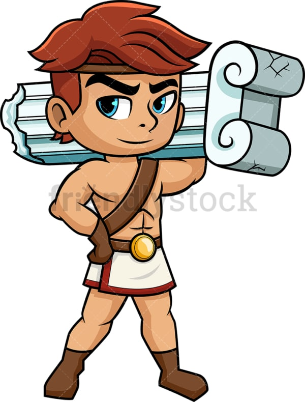 Hercules the son of zeus. PNG - JPG and vector EPS (infinitely scalable). Image isolated on transparent background.