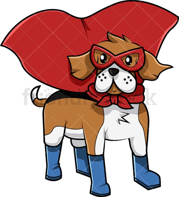 Superhero beagle dog. PNG - JPG and vector EPS (infinitely scalable). Image isolated on transparent background.