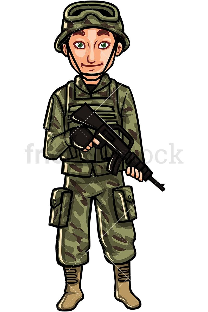 Us Army Soldier Cartoon Vector Clipart Friendlystock