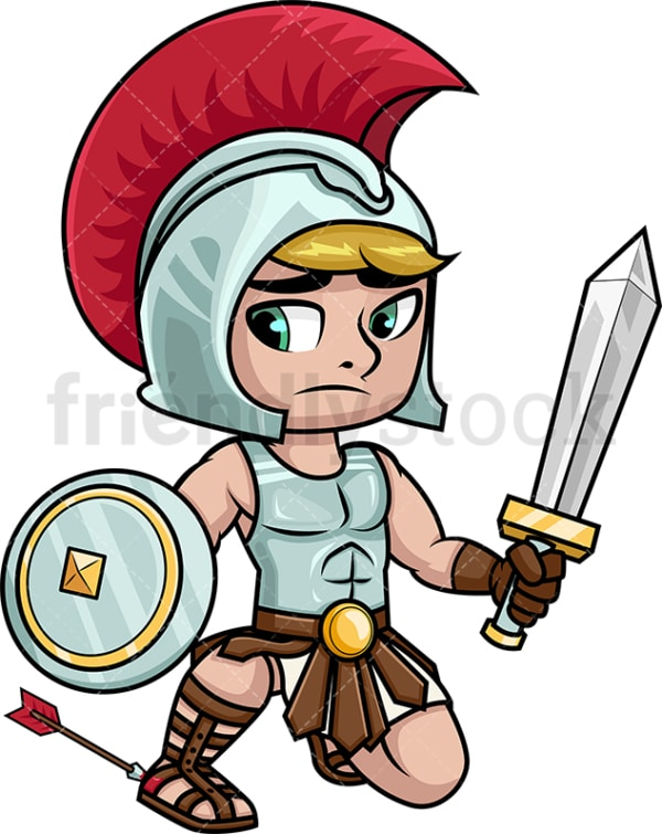 Achilles of the trojan war. PNG - JPG and vector EPS (infinitely scalable). Image isolated on transparent background.
