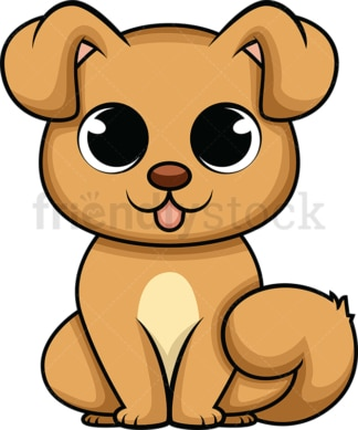 Adorable baby dog. PNG - JPG and vector EPS (infinitely scalable). Image isolated on transparent background.