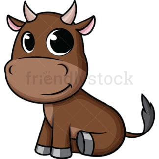 Adorable baby ox. PNG - JPG and vector EPS (infinitely scalable). Image isolated on transparent background.