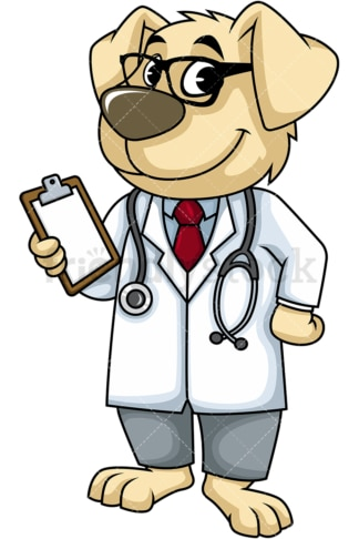 Dog doctor. PNG - JPG and vector EPS (infinitely scalable). Image isolated on transparent background.