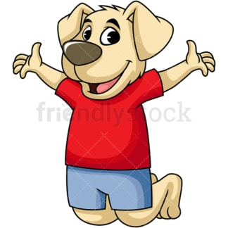 Happy dog cartoon character. PNG - JPG and vector EPS (infinitely scalable). Image isolated on transparent background.