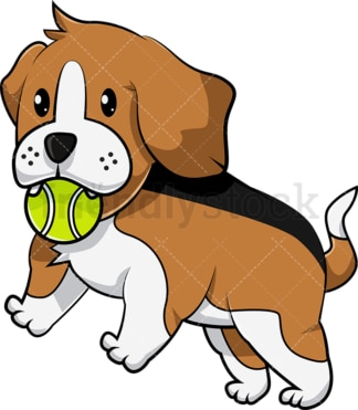 Playful beagle puppy. PNG - JPG and vector EPS (infinitely scalable). Image isolated on transparent background.