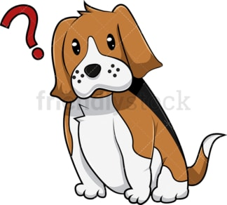 Confused beagle dog. PNG - JPG and vector EPS (infinitely scalable). Image isolated on transparent background.