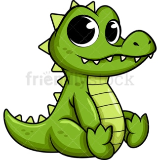 Adorable baby alligator. PNG - JPG and vector EPS (infinitely scalable). Image isolated on transparent background.