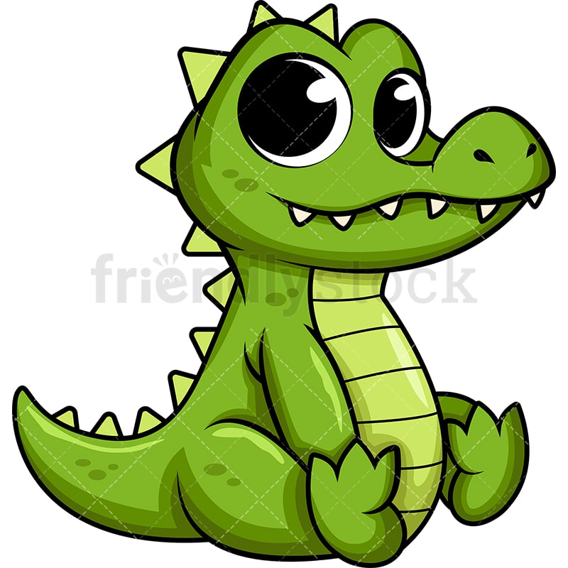 Cute Baby Alligator Cartoon Vector Clipart - FriendlyStock - photo#13