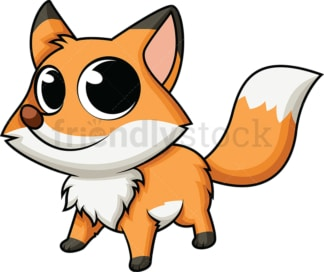 Adorable baby fox. PNG - JPG and vector EPS (infinitely scalable). Image isolated on transparent background.