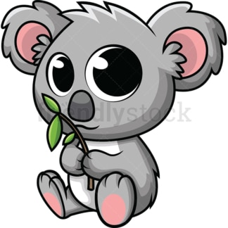 Adorable baby koala. PNG - JPG and vector EPS (infinitely scalable). Image isolated on transparent background.