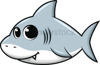 Adorable little shark. PNG - JPG and vector EPS (infinitely scalable). Image isolated on transparent background.