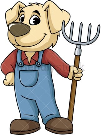 Dog farmer. PNG - JPG and vector EPS (infinitely scalable). Image isolated on transparent background.
