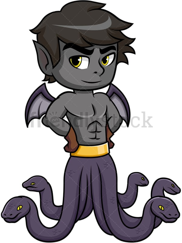 Greek monster typhon. PNG - JPG and vector EPS (infinitely scalable). Image isolated on transparent background.