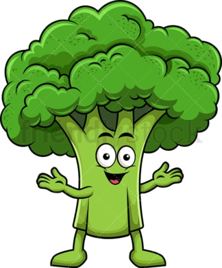 Happy broccoli character. PNG - JPG and vector EPS (infinitely scalable). Image isolated on transparent background.
