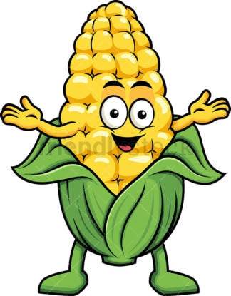 Happy maize character. PNG - JPG and vector EPS (infinitely scalable). Image isolated on transparent background.