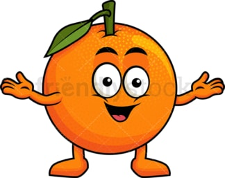 Happy orange character. PNG - JPG and vector EPS (infinitely scalable). Image isolated on transparent background.