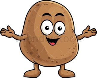Happy potato character. PNG - JPG and vector EPS (infinitely scalable). Image isolated on transparent background.