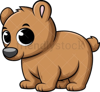 Adorable baby bear. PNG - JPG and vector EPS (infinitely scalable). Image isolated on transparent background.