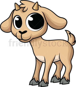 Adorable baby goat. PNG - JPG and vector EPS (infinitely scalable). Image isolated on transparent background.