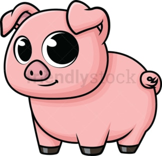 Adorable baby pig. PNG - JPG and vector EPS (infinitely scalable). Image isolated on transparent background.