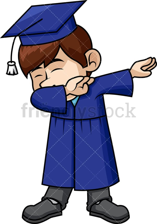 Male graduate doing the dab. PNG - JPG and vector EPS file formats (infinitely scalable). Image isolated on transparent background.