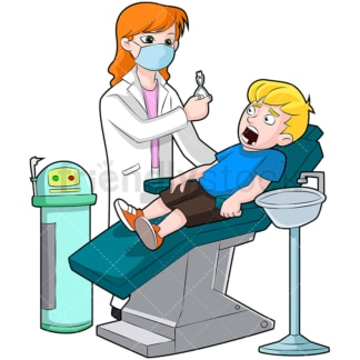 Female dentist pulling tooth out. PNG - JPG and vector EPS (infinitely scalable). Image isolated on transparent background.