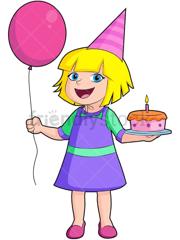 Happy birthday girl. PNG - JPG and vector EPS (infinitely scalable). Image isolated on transparent background.