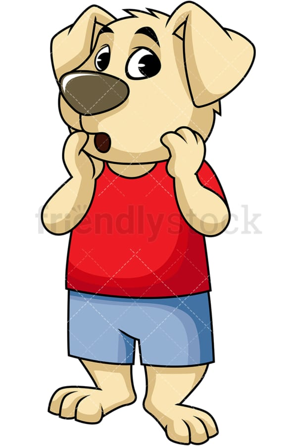 Surprised dog cartoon character. PNG - JPG and vector EPS (infinitely scalable). Image isolated on transparent background.