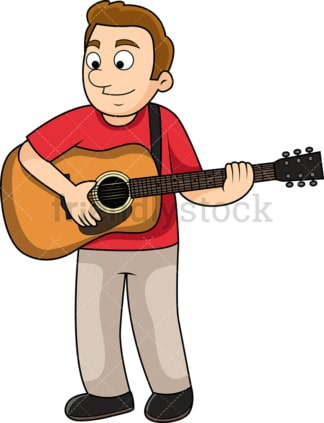 Man playing the guitar. PNG - JPG and vector EPS file formats (infinitely scalable). Image isolated on transparent background.