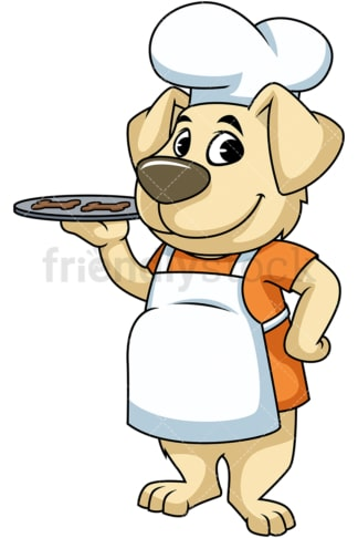 Baker dog chef. PNG - JPG and vector EPS (infinitely scalable). Image isolated on transparent background.