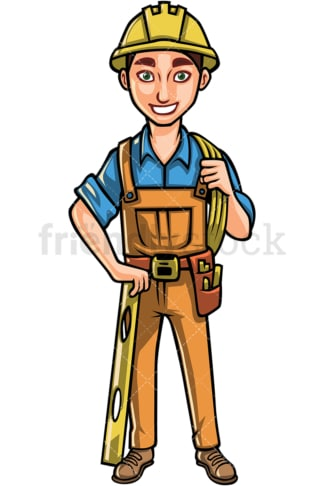 Engineer with hard hat. PNG - JPG and vector EPS file formats (infinitely scalable). Image isolated on transparent background.